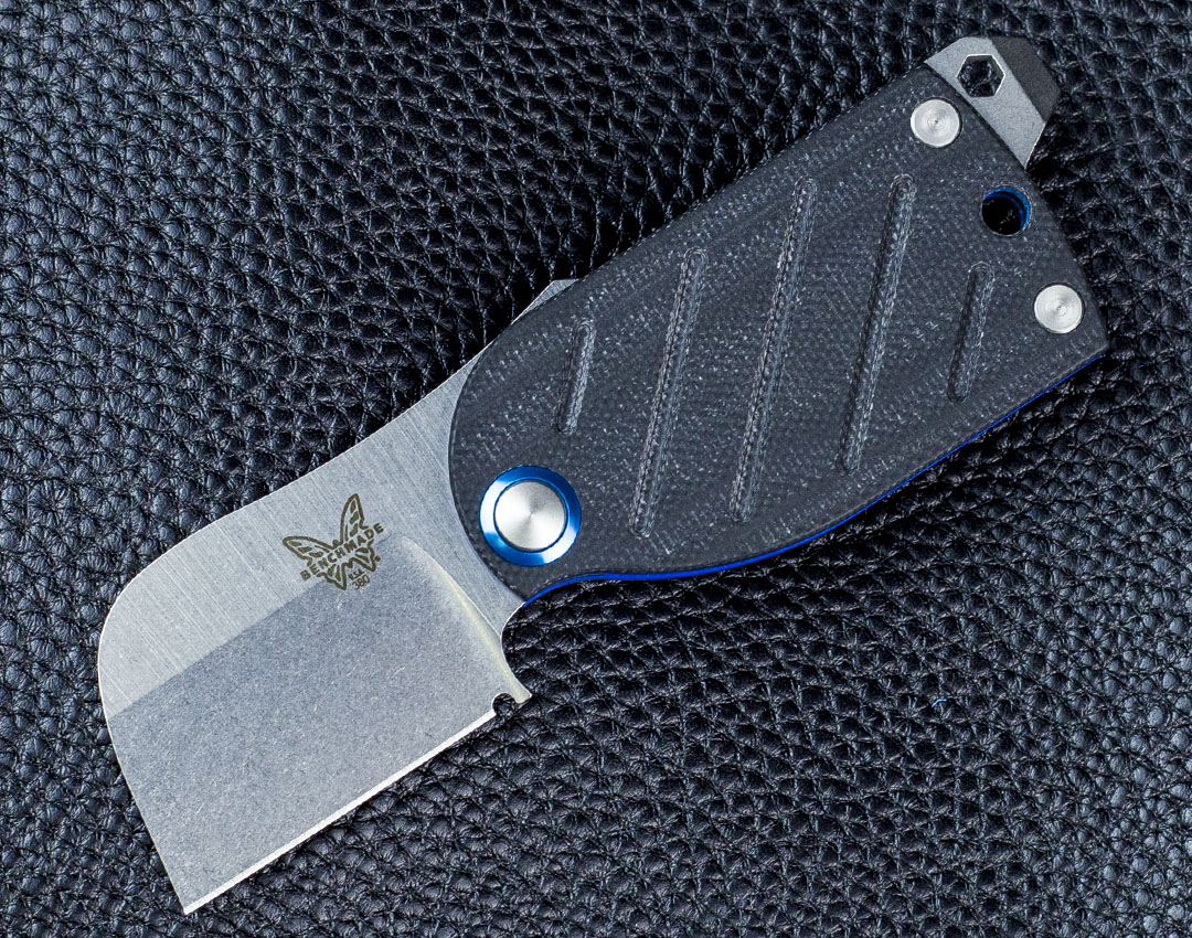 型号:Benchmade 美国蝴蝶 380 Aller Friction Folder Knife Black/Blue G-10 EDC无锁定折刀